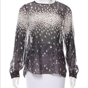 Grey, white and black L'Agence top